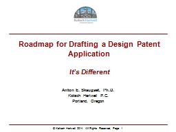 Roadmap for Drafting a Design Patent Application