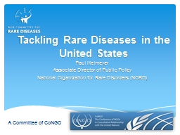 Tackling  Rare  Diseases