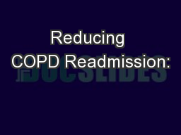 Reducing COPD Readmission: