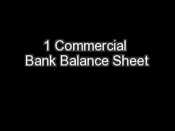 1 Commercial Bank Balance Sheet