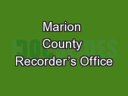 Marion County Recorder's Office