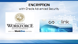 ENCRYPTION  with Oracle Advanced Security