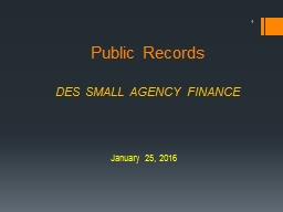 Public Records DES SMALL AGENCY FINANCE
