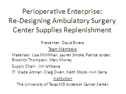 Perioperative Enterprise: