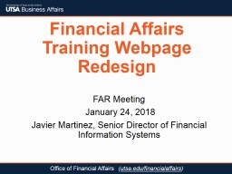 Financial Affairs Training Webpage Redesign