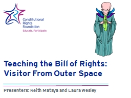 Teaching the Bill of Rights: Visitor From Outer Space