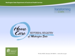 What is the Home Care Referral Registry?