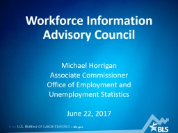Workforce Information Advisory Council