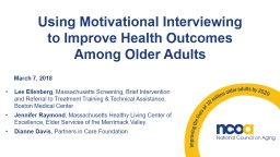 Using Motivational Interviewing