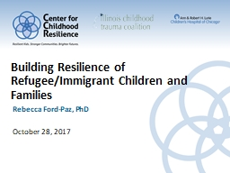 Building Resilience of Refugee/Immigrant Children and Families