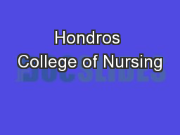 Hondros College of Nursing PowerPoint PPT Presentation