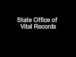 State Office of Vital Records