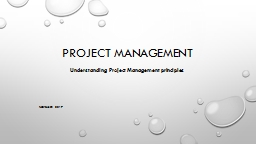 Project Management November 2017