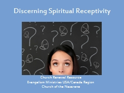 Discerning Spiritual Receptivity