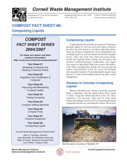 COMPOST FACT SHEET  Composting Liquids Cornell Waste M