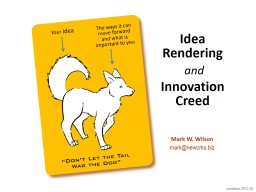 Your  idea The ways it can move forward and what is important to you