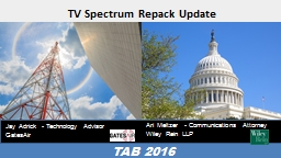 TV Spectrum Repack Update