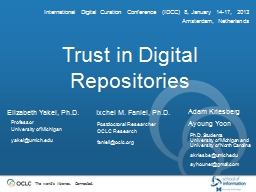 Trust in Digital Repositories