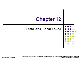 Chapter 12 State and Local Taxes