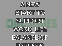 # SocialRights A NEW START TO SUPPORT WORK_LIFE BALANCE OF PARENTS AND CARERS