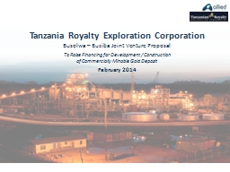 Tanzania Royalty Exploration Corporation