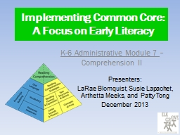 Implementing Common Core: