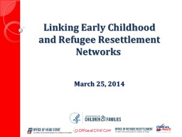Linking Early Childhood and Refugee Resettlement Networks