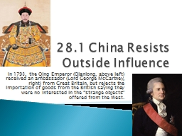 28.1 China Resists Outside Influence