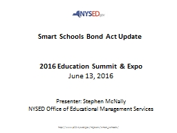 Smart Schools Bond Act Update
