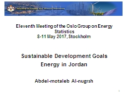 Eleventh Meeting of the Oslo Group on Energy Statistics