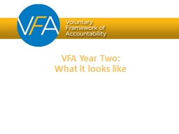VFA Year Four January 1 � December 31, 2017