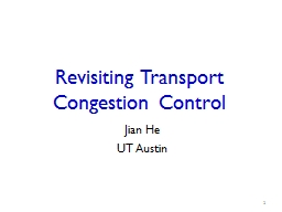 Revisiting Transport Congestion Control