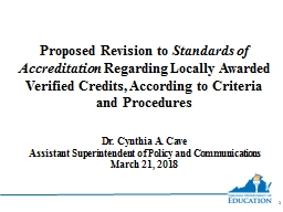 Proposed  Revision  to  Standards of Accreditation