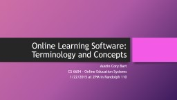 Online Learning Software: