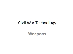 Civil War Technology Weapons