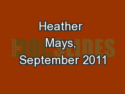 Heather Mays, September 2011