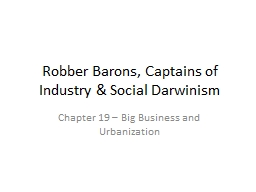 Robber Barons, Captains of Industry & Social Darwinism
