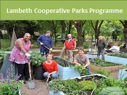 Lambeth Cooperative Parks Programme