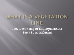 What is a Vegetation Line