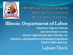24th Annual Illinois Statewide PowerPoint PPT Presentation