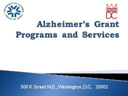 Alzheimer's Grant Programs and Services