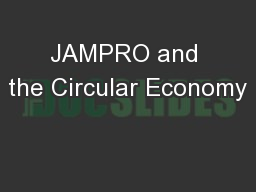 JAMPRO and the Circular Economy