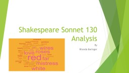 Shakespeare Sonnet 130  Analysis