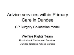Redesigning council advice services in Dundee