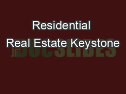Residential Real Estate Keystone