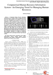 International Journal of Innovative Technology and Exp