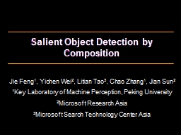 Salient Object Detection by Composition