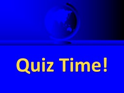 Quiz Time! Commercial English