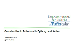 Cannabis Use in Patients with Epilepsy and Autism