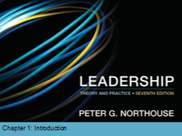 Chapter 1: Introduction  Importance of Leadership